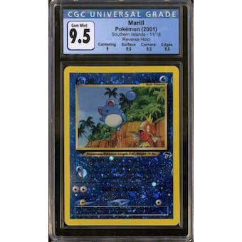 Pokemon Southern Islands Marill 11/18 CGC 9.5 Gem Mint