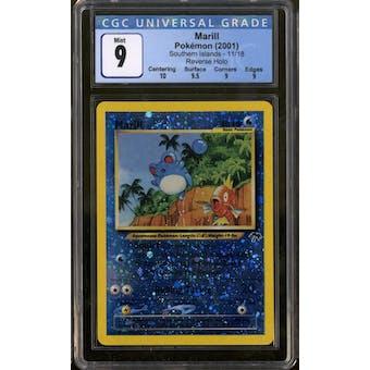 Pokemon Southern Islands Marill 11/18 CGC 9 Q++