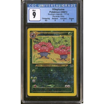 Pokemon Southern Islands Vileplume 17/18 CGC 9
