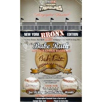 2008 TriStar Hidden Treasures New York Bronx Baseball Hobby Box