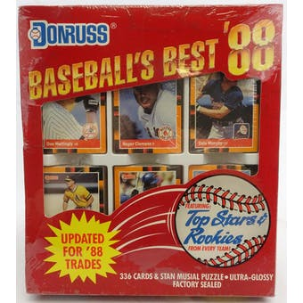 1988 Donruss Baseball's Best Baseball Factory Set (Reed Buy)