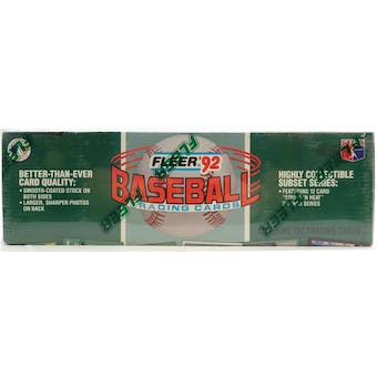 1992 Fleer Baseball Factory Set (Reed Buy)