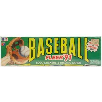 1991 Fleer Baseball Factory Set (Colorful Box) (Reed Buy)