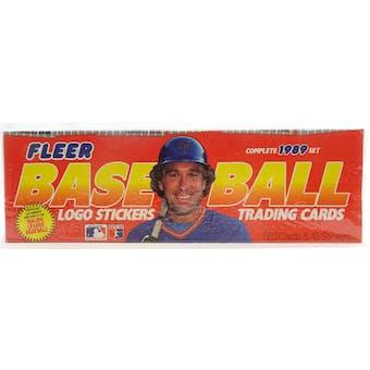 1989 Fleer Baseball Factory Set (Colorful Box) (Reed Buy)