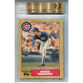 1987 Topps Traded #70T Greg Maddux XRC BGS 9.5 *2615 (Reed Buy)