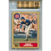 1987 Topps Traded #70T Greg Maddux XRC BGS 9.5 *5516 (Reed Buy)