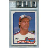1989 Topps #647 Randy Johnson RC BGS 9 *3223 (Reed Buy)