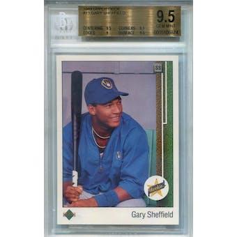 1989 Upper Deck #13 Gary Sheffield RC BGS 9.5 *6874 (Reed Buy)