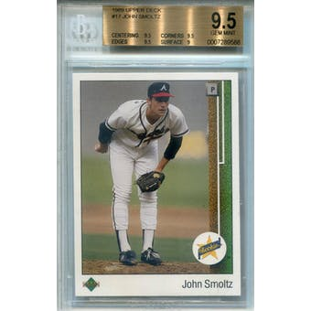 1989 Upper Deck #17 John Smoltz RC BGS 9.5 *9588 (Reed Buy)