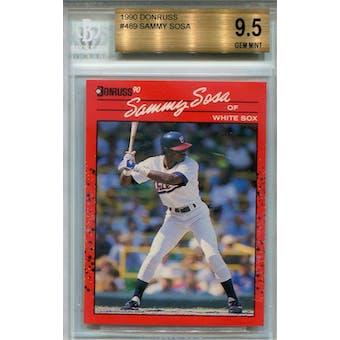 1990 Donruss #489 Sammy Sosa RC BGS 9.5 *3914 (Reed Buy)