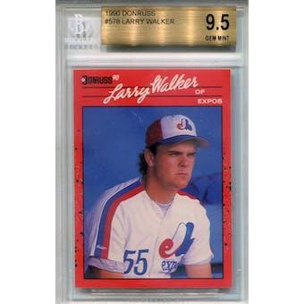 1990 Donruss #578 Larry Walker RC BGS 9.5 *8852 (Reed Buy)