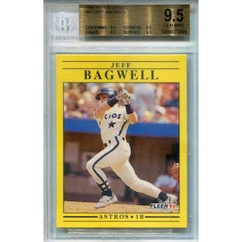1991 Fleer Update #U-87 Jeff Bagwell RC BGS 9.5 *3993 (Reed Buy)