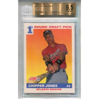 1991 Score #671 Chipper Jones RC BGS 9.5 *4834 (Reed Buy)