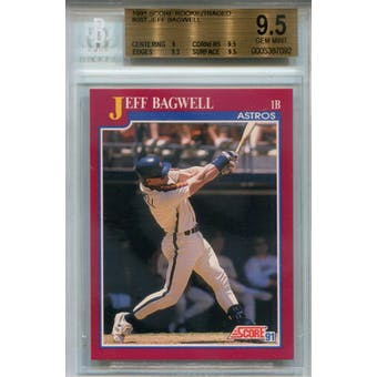 1991 Score Rookie/Traded #96T Jeff Bagwell RC BGS 9.5 *7092 (Reed Buy)