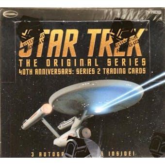 Star Trek 40th Anniversary Series 2 Trading Cards Box (Rittenhouse 2008)