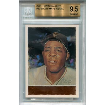2001 Topps Gallery #50 Willie Mays Retail BGS 9.5 *6091 (Reed Buy)
