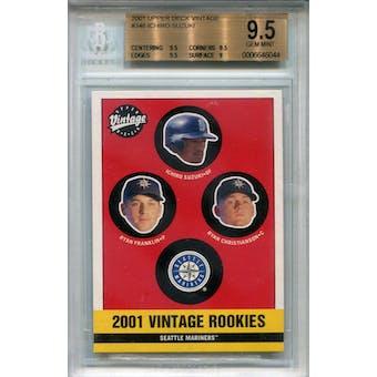 2001 Upper Deck Vintage #346 Ichiro Suzuki RC BGS 9.5 *6044 (Reed Buy)
