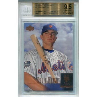2001 Upper Deck Prospect Premieres #52 David Wright BGS 9.5 *7458 (Reed Buy)
