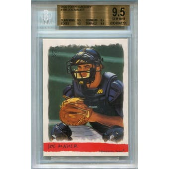 2002 Topps Gallery #186 Joe Mauer RC BGS 9.5 *3220 (Reed Buy)
