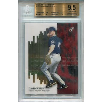 2002 Topps Pristine #167 David Wright Uncommon BGS 9.5 *8039 (Reed Buy)