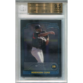 2003 Bowman Chrome Draft #BDP124 Robinson Cano RC BGS 9.5 *7203 (Reed Buy)