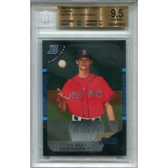 2005 Bowman Chrome Draft #BDP81 Clay Buchholz  RC BGS 9.5 *5633 (Reed Buy)