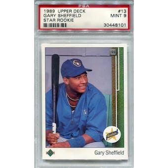 1989 Upper Deck #13 Gary Sheffield PSA 9 *8101 (Reed Buy)