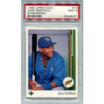 1989 Upper Deck #13 Gary Sheffield PSA 9 *8091 (Reed Buy)