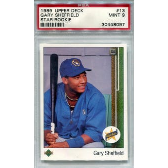 1989 Upper Deck #13 Gary Sheffield PSA 9 *8097 (Reed Buy)