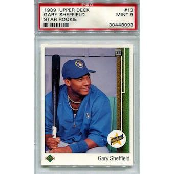 1989 Upper Deck #13 Gary Sheffield PSA 9 *8093 (Reed Buy)