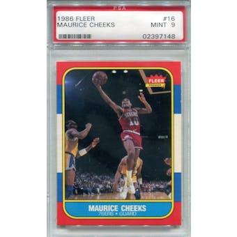 1986/87 Fleer #16 Maurice Cheeks PSA 9 *7148 (Reed Buy)