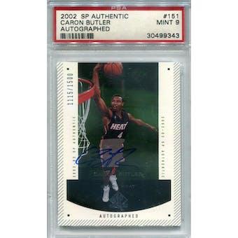 2002/03 SP Authentic #151 Caron Butler Autograph RC PSA 9 *9343 (Reed Buy)