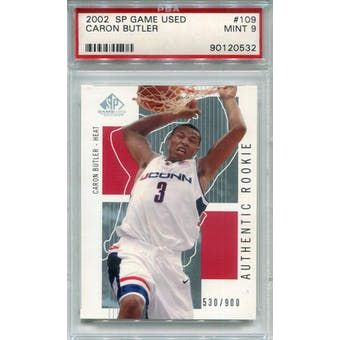 2002/03 SP Game Used #109 Caron Butler RC PSA 9 *0532 (Reed Buy)