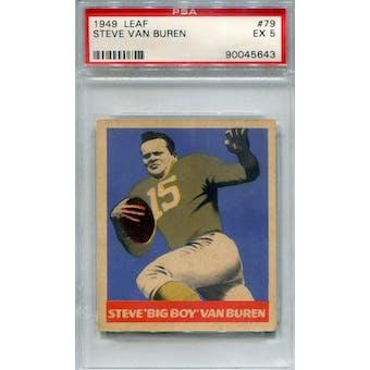 1949 Leaf #79 Steve Van Buren PSA 5 *5643 (Reed Buy)