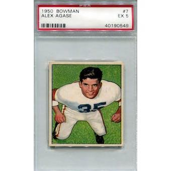 1950 Bowman #7 Alex Agase RC PSA 5 *0549 (Reed Buy)