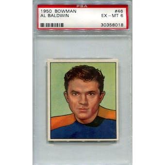 1950 Bowman #46 Al Baldwin PSA 6 *8018 (Reed Buy)