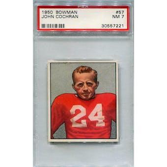 1950 Bowman #57 John Cochran RC PSA 7 *7221 (Reed Buy)