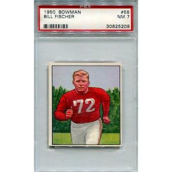 1950 Bowman #58 Bill Fischer PSA 7 *5209 (Reed Buy)