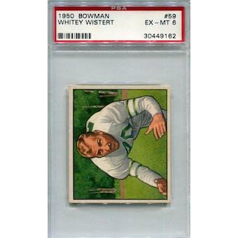 1950 Bowman #59 Whitey Wistert PSA 6 *9162 (Reed Buy)