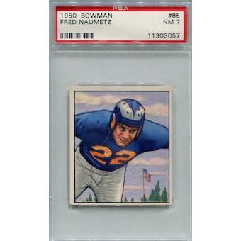 1950 Bowman #85 Fred Naumetz RC PSA 7 *3057 (Reed Buy)