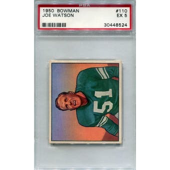 1950 Bowman #110 Joe Watson RC PSA 5 *8524 (Reed Buy)