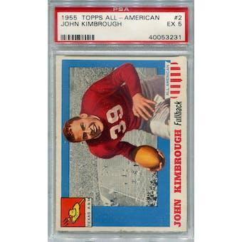 1955 Topps All-American #2 John Kimbrough RC PSA 5 *3231 (Reed Buy)