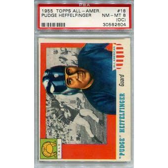 1955 Topps All-American #18 Pudge Heffelfinger RC PSA 8OC *2604 (Reed Buy)