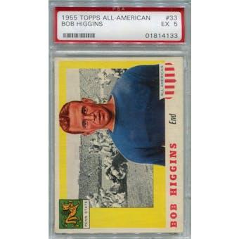 1955 Topps All-American #33 Bob Higgins PSA 5 *4133 (Reed Buy)