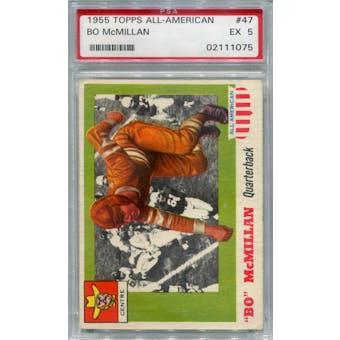 1955 Topps All-American #47 Bo McMillan RC PSA 5 *1075 (Reed Buy)