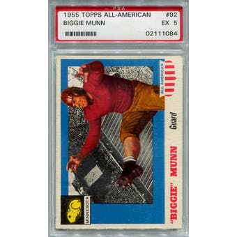 1955 Topps All-American #92 Biggie Munn RC PSA 5 *1084 (Reed Buy)