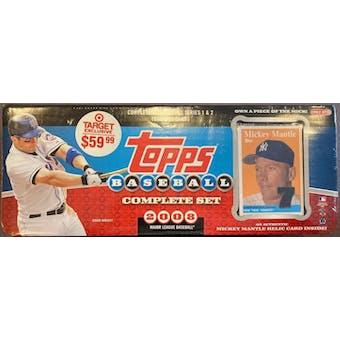2008 Topps Factory Set Baseball Retail (Box) (Target) (Mickey Mantle Edition)