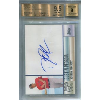 2006 Topps Autographs #DP Dustin Pedroia BGS 9.5 Auto 9 *8905 (Reed Buy)