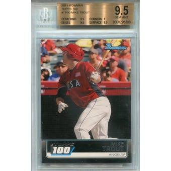 2011 Bowman Topps 100 #TP90 Mike Trout BGS 9.5 *5386 (Reed Buy)