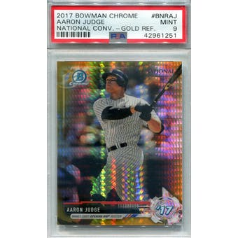 2017 Bowman Chrome National Convention Gold Refractor #BNRAJ Aaron Judge PSA 9 *1251 (Reed Buy)